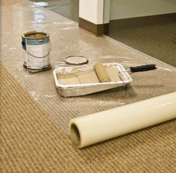 Carpet Plastic Protects Carpeting