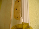 Caulking door frame and casing