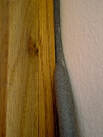 Use backer rod on wide gaps.