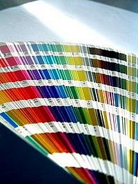 Paint color fan deck.