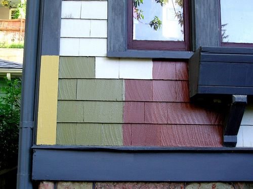 Paint Color Samples Lied To The Siding And Trim