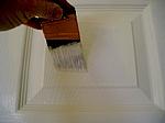 Brushing panel flat areas.