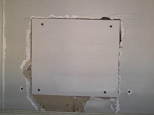 Drywall Repair Repairing Large Holes With The Furring