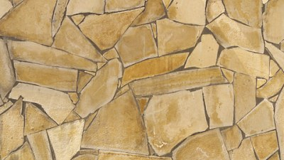 Faux Painted Flagstone On A Wall