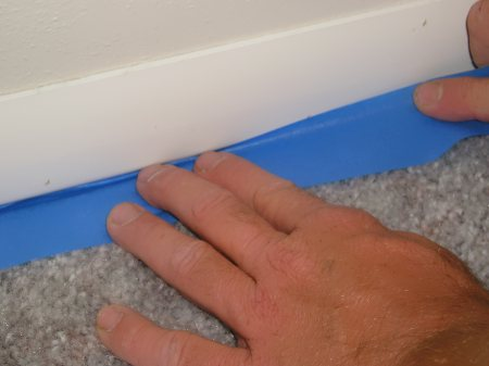 Protect Carpet With Masking Tape. The Interior Trim ...