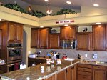 Modern open style kitchen.