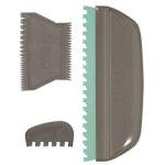 Commercially available paint combing set.