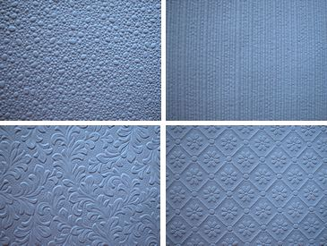 Samples of paintable wallpaper.