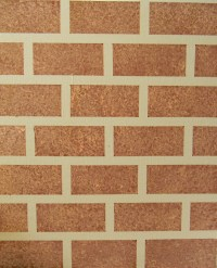 Painted faux brick on a smooth wall.
