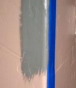 Use care while brushing when painting rounded corners.