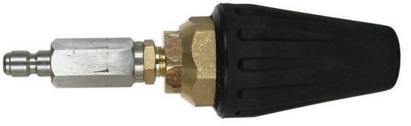 A pressure washing turbo nozzle.