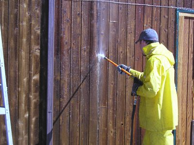 Pressure Washing Stained Siding