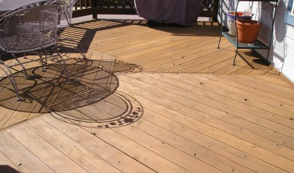 A well maintained wood deck looks great and stays that way.
