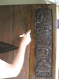 Applying Varnish to the Custom Wood Doors.