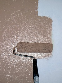Painting Walls With A Roller
