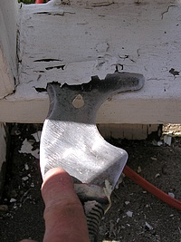 Scraping paint is one half of the paint removal equation.