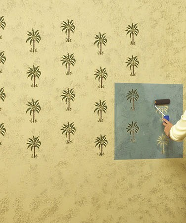 Decorative Painting - Using Stencils to Achieve Wallpaper-like Effects