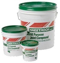 All purpose drywall joint compound by USG.