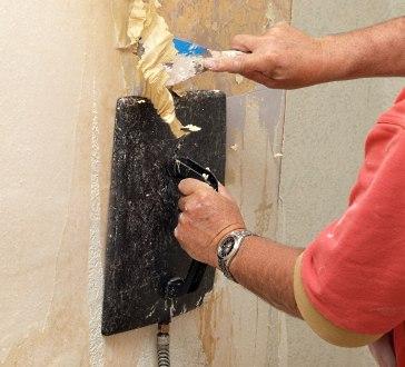Using a wallpaper steamer.