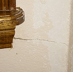 Stress crack in a wall.