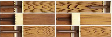 Wood graining patterns .
