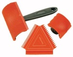 Wood graining tool set.