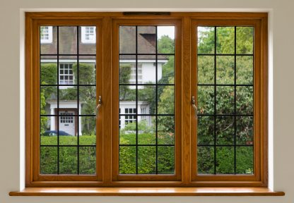 Beautifully Stained And Finished Solid Mahogany Windows.