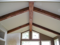 Stained Wood Beams