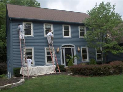 Home being painted by Sharper Impressions Painting Company