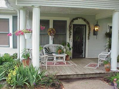 Plain but comfortable front porch.
