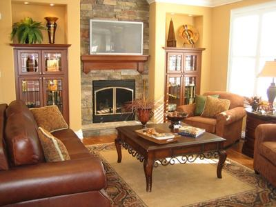 A warm and inviting living room.