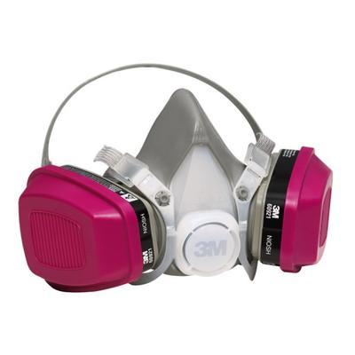 Typical chemical vapor respirator.