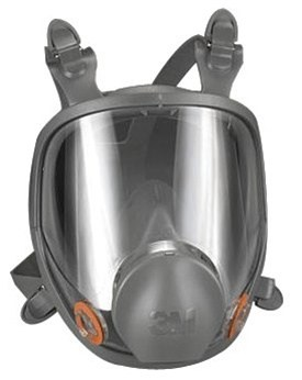 Full face chemical respirator.