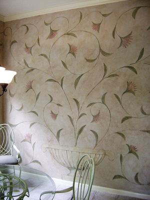 Lovely Stenciled Wall