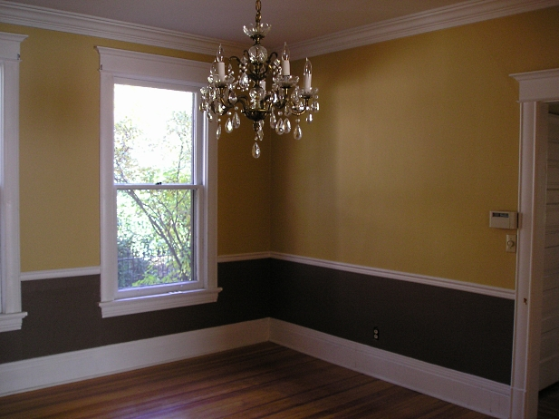 Choosing interior paint colors the practical house for 2 tone dining room colors