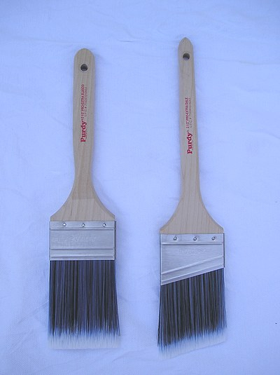 Flat & Angled paint brushes from Purdy.