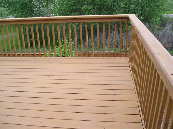 Deck after the prep and staining.