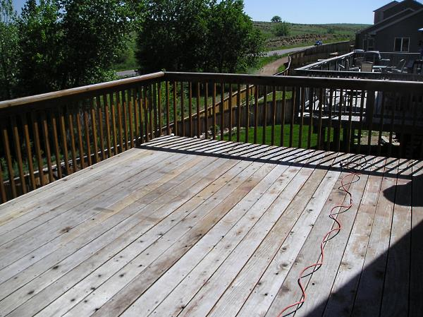 Deck before the prep and staining.