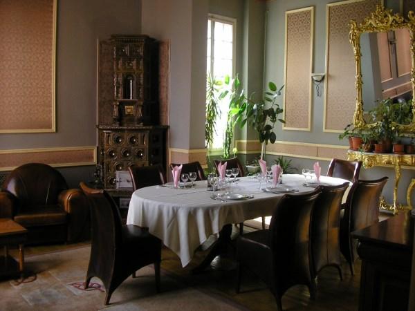 Fancy dining room.