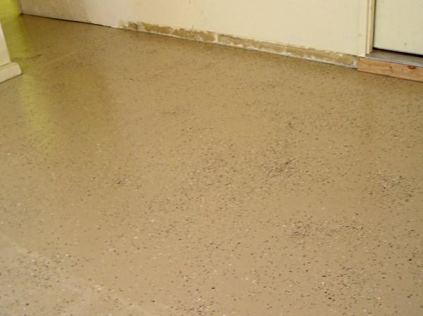 2 part epoxy paint applied to garage floor.