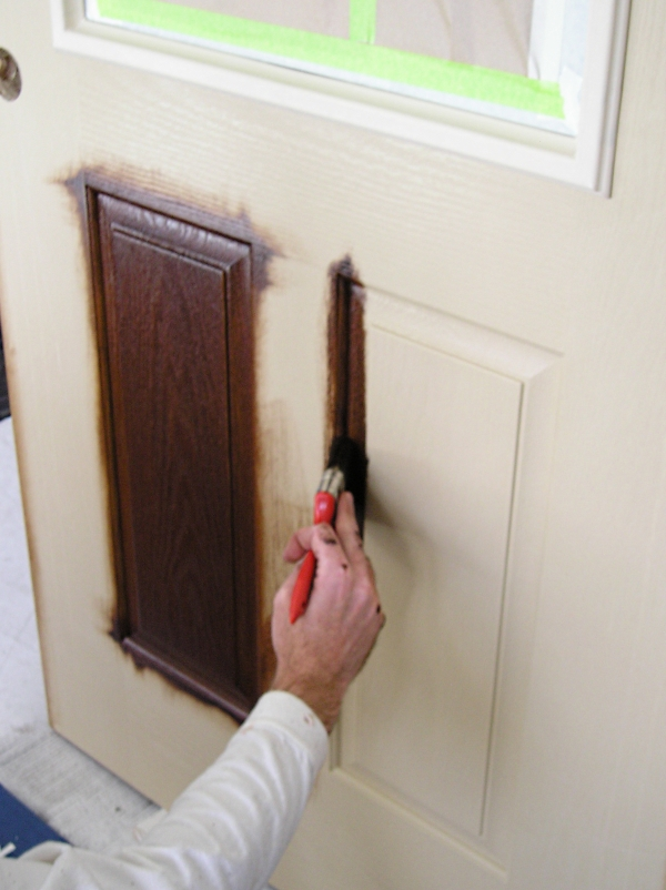 Staining A Fiberglass Door The Practical House Painting