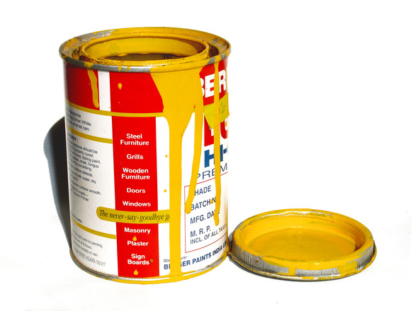 Safety yellow oil base enamel paint.