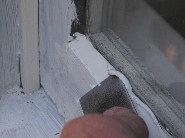 Glazing a window sash.