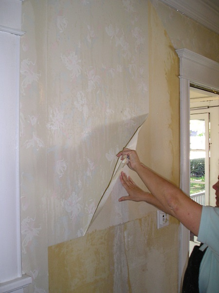 how to remove vinyl wallpaper the practical house