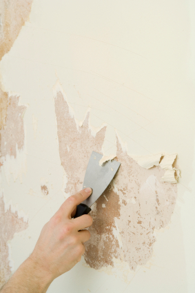 Removing wallpaper backing.