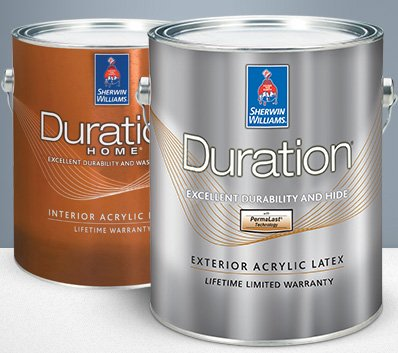 Sherwin Williams Duration interior & exterior paint.