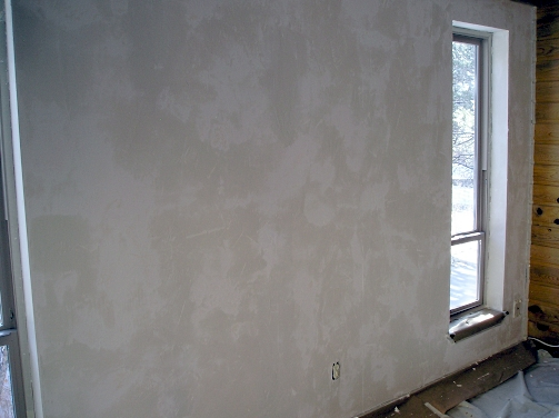 Applying Skip Trowel Texture The Practical House
