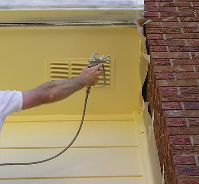Exterior Spray Painting - The Practical House Painting Guide