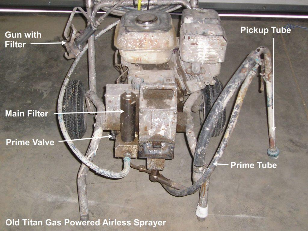 Old Gas Powered Titan Airless Paint Sprayer
