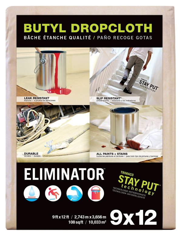 Eliminator Drop Cloth, 9x12, by Trimaco